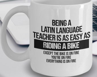 Long live dead languages VIVANT MORTUAE LINGUAE LATIN Mug 11oz Cup