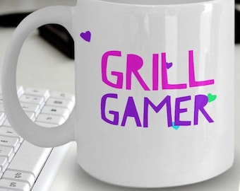 "Gamer Girl Mug ""Gamer Coffee Mug For Girls"" Grill Gamer Gift Idea For a Wife, Girlfriend or Sister Gamer"