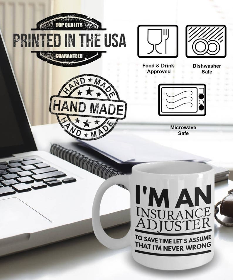 Insurance Adjuster Mug Insurance Adjuster Gifts I'm an | Etsy