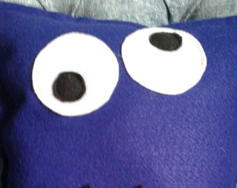 Cookie Monster inspired from Sesame Street decorative pillow