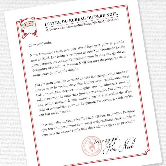 Lettre Du Père Noël Liste Des Enfants Sages Lutins De Noël Lettre Personnalisé Activité De Noël Lettre Du Pôle Nord à Imprimer