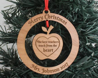 Personalized Ornament - Teacher (English or Spanish)
