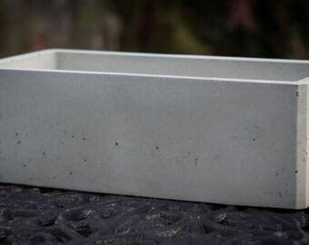 Rectangular Concrete Planter | Etsy