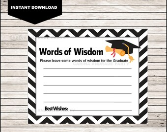 graphic regarding Free Printable Graduation Advice Cards named Graduate guidance tag Etsy