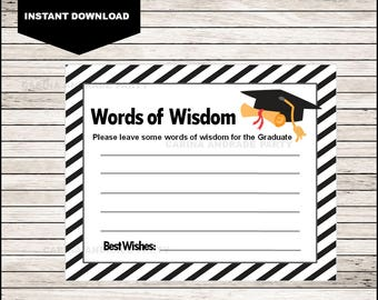 graphic relating to Advice for the Graduate Free Printable named Knowledge for graduate Etsy