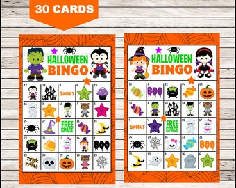 photo relating to Printable Halloween Bingo Card identify Halloween bingo card Etsy