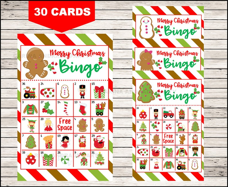It's just a photo of Free Printable Christmas Bingo Cards for Large Groups pertaining to christmas themed