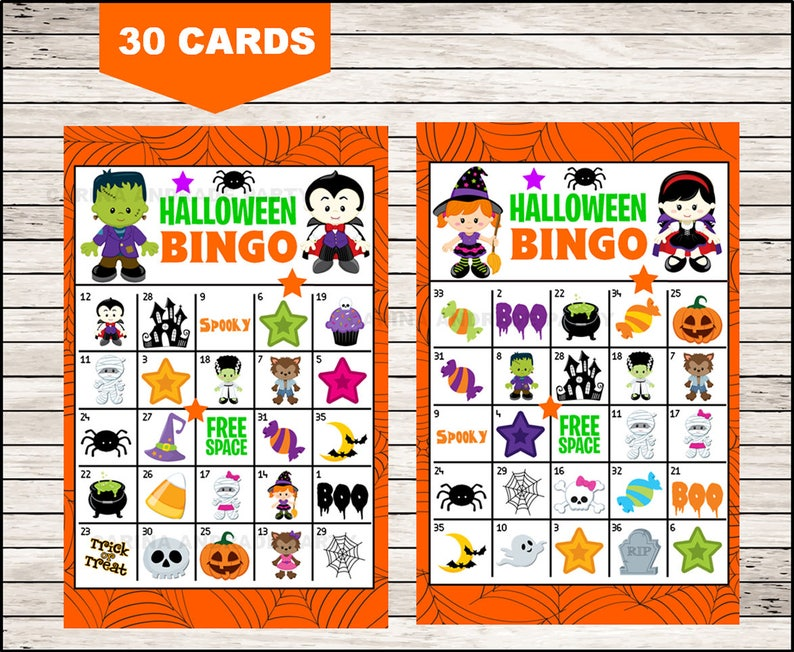 photograph about Printable Halloween Bingo Cards called Printable 30 Halloween Bingo Playing cards; printable Halloween Bingo recreation, Halloween printable bingo playing cards immediate obtain