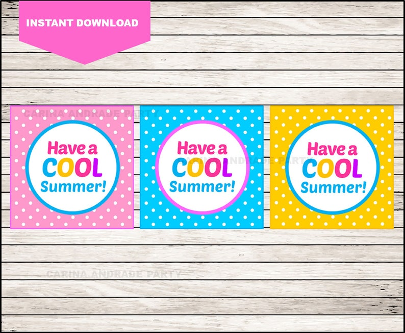picture relating to Have a Cool Summer Printable named Printable Conclude of Faculty Playing cards , Incorporate a Neat Summer time Humorous Reward Tags , Printable Summer months Reward Tag playing cards immediate obtain