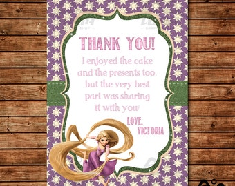 Tangled Birthday Thank You, Rapunzel Birthday, Disney Princess Thank You, Princess Birthday Thank You, Rapunzel, Tangled
