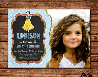 Snow White Birthday Invitation, Snow White Birthday, Disney Princess Invitation, Princess Birthday Invitation, Snow White and Seven Dwarfs