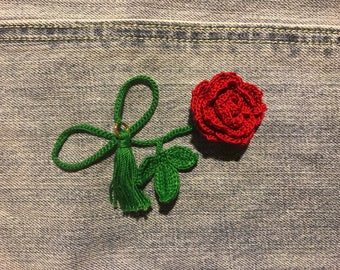Crochet Rose Bookmark(multiple color available)