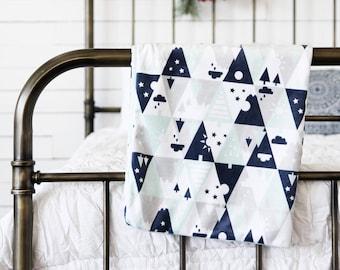 Woodland Minky Baby Blanket