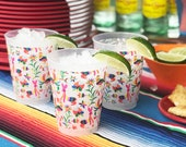 Mexican Embroidery Otomi Frosted Roadie Cup (10 Pack)