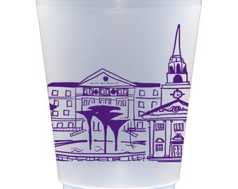 Texas Christian University (TCU) Campus Landmarks Frosted Roadie Cup 10 Pack