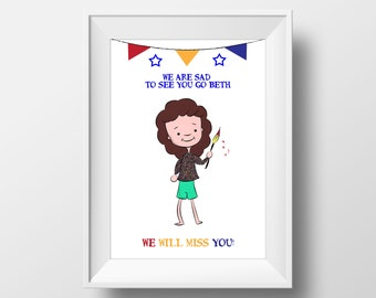 New Job Card, Good Luck Leaving Card, Goodbye Card, Congrats New Job, Sorry You are Leaving, Personalised Card, Leaving Gifts, Cartoon Gift