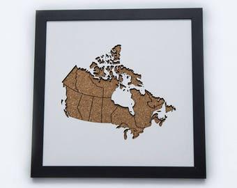 Cork Map Cutout | Canada