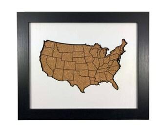 Cork Map Cutout | USA