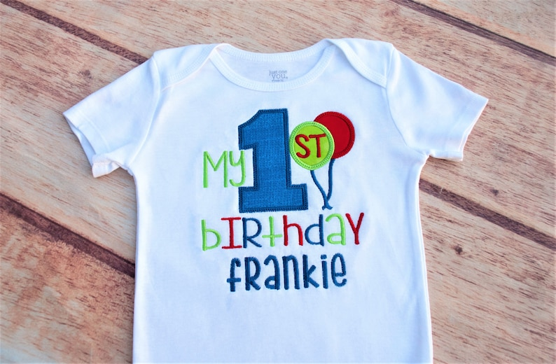 Personalized First Birthday Shirt