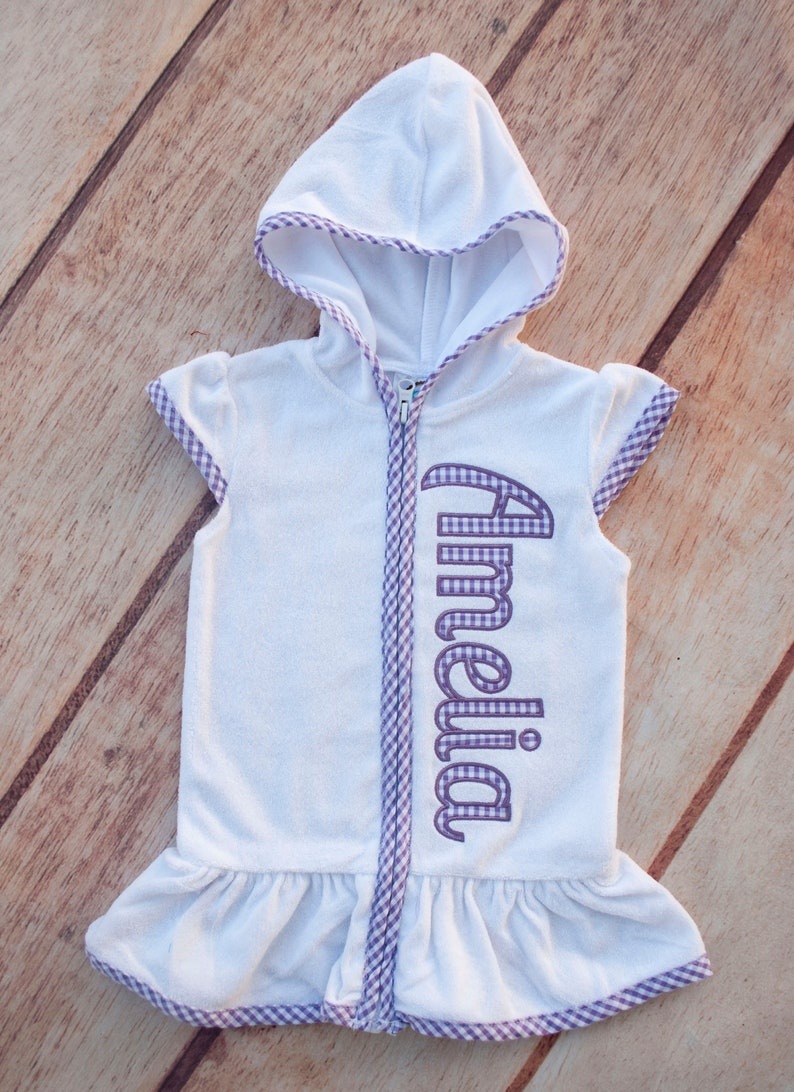 72935d9922 Girl Swimsuit Cover Up Toddler Swim Cover Up Terry Cloth | Etsy