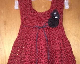 Autumn Red Dress