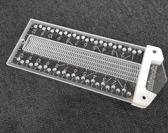 Mirock Ruler Metric Plastic 120mm