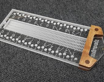 Mirock Ruler Metric Sapele 120mm