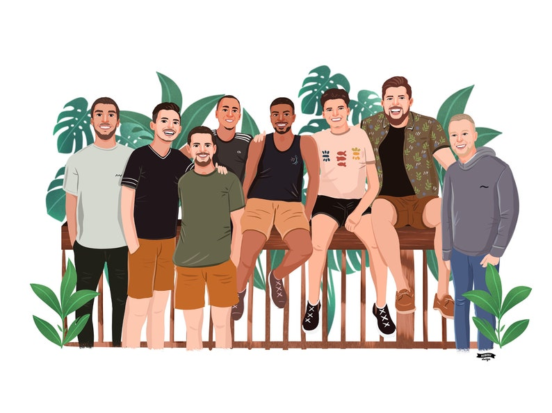 Best Friend Gift Friendship custom portrait Illustration image 0