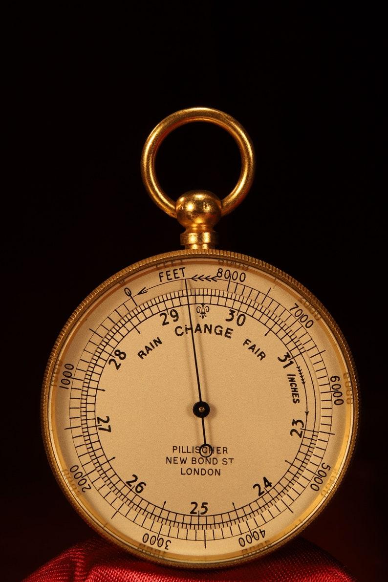 Antique Pocket Barometer Altimeter by Negretti /& Zambra Retailed by Pillischer c1900