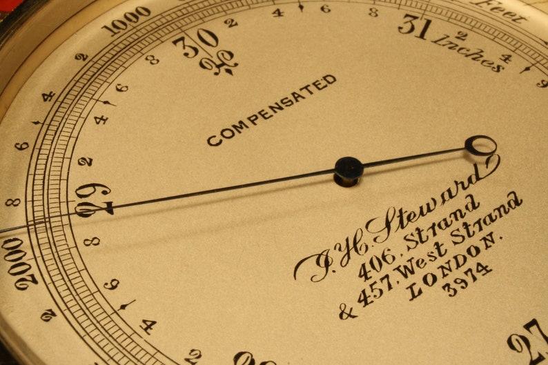 Antique Pocket Barometer Altimeter by Steward No 5562 c1887