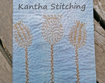 Fenland Textile Book of Kantha Stitching - 10 Kantha Embroidery Patterns