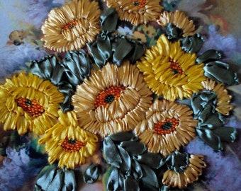 Sunflower in the vase