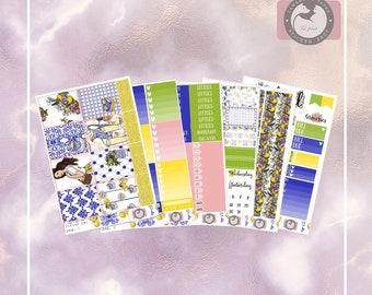Citrus gal, Full weekly sticker kit, Planner sticker kit for the vertical Erin Condren or Happy Planner