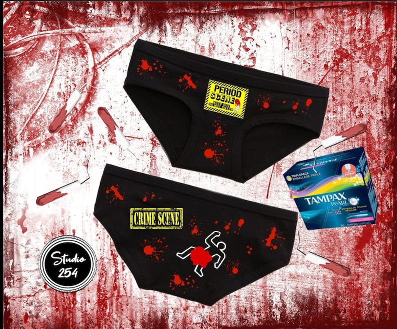 Period Crime Scene Period Panties Aerie Cotton Boybrief Funny Gift For Her Wedding Birthday Clothing Gag Gift Underwear