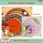 October Skies Digital Template
