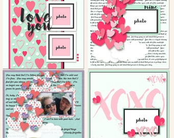 Heartful Digital Scrapbooking Templates