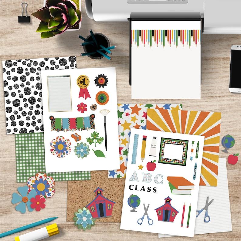 School Rules Printable Scrapbooking Kit image 0