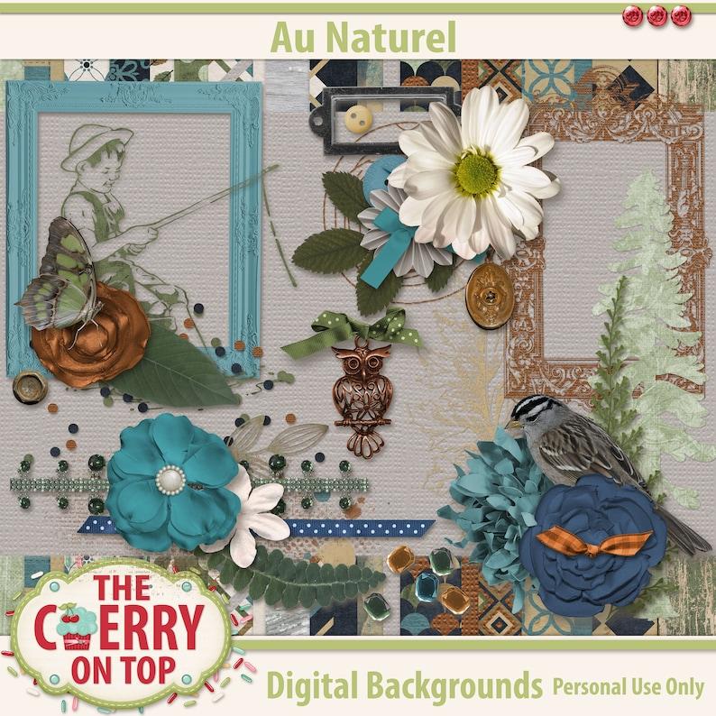 Au Naturel Digital Scrapbooking Kit image 0