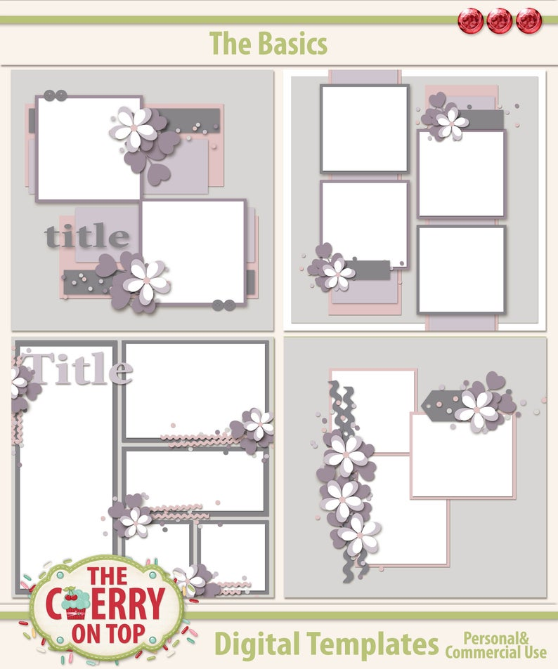 The Basics Scrapbooking Templates image 0