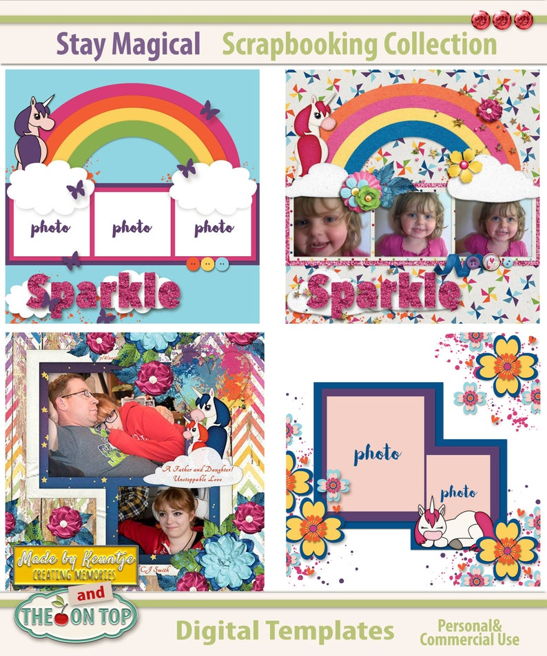 Stay Magical Digital Scrapbooking Templates image 0