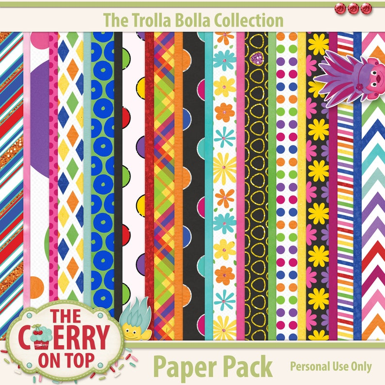 The Trolla Bolla Scrapbooking Paper collection image 0