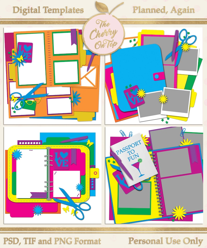 Planned Again Digital Scrapbooking Templates image 0