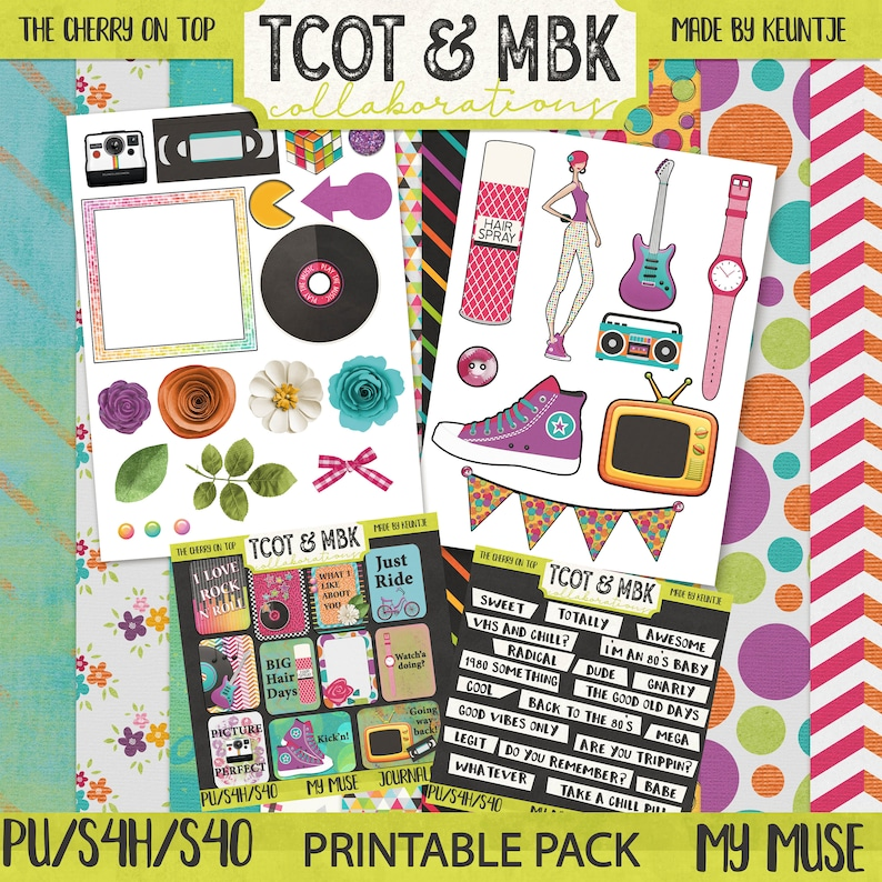 My Muse Printable Scrapbooking Pack image 0
