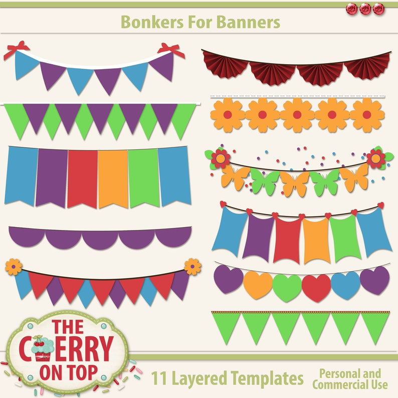 Bonkers For Banners Digital Templates image 0