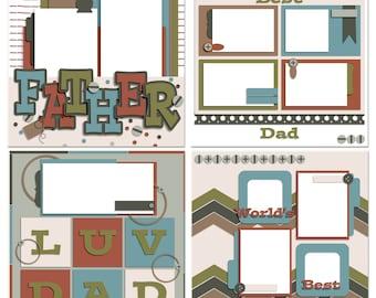 Rad Dad Digital Scrapbooking Templates