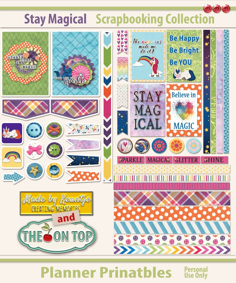 Stay Magical Printable Planner Inserts image 0