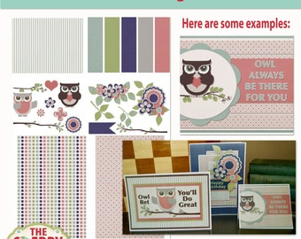 Owl Always Be There Card Making or Scrapbooking Kit