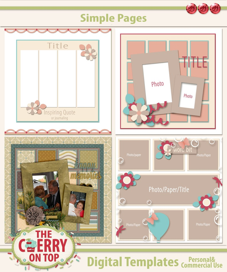 Simple Pages Digital Scrapbooking Templates image 0