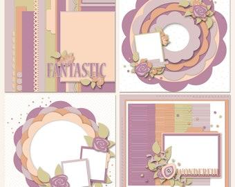 Luscious Layers Digital Scrapbooking Templates