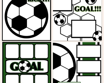 Seriously Soccer Digital Scrapbooking Templates